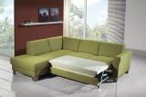 Rozkládací sedací souprava Aksamite, olivově zelená, model Aras